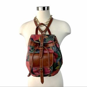 Patricia Nash Floral Lined Leather Backpack